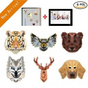 Kids Educational Toys Magnet - C7 Animal Fridge Magnet with Magnetic Picture Frame, Decor Refrigerator Magnets Sticker Home Decoration for Toddlers Activity, Toddler Magnets, Baby Animal Magnets
