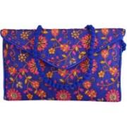 Saashiwear Women Blue Polyester Sling Bag
