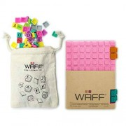 WAFF Soft, Silicone Covered Glitter Combo Notebook/Journal, Pink