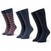 Set de 3 perechi de șosete medii unisex TOMMY HILFIGER - 100000844 Jeans 001