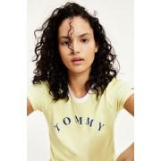 Tommy Hilfiger Slogan tričko dámské z organické bavlny- žluté Velikost: S