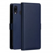 DZGOGO Milo Series PU Leather Wallet Stand Phone Case for Samsung Galaxy A30 - Blue