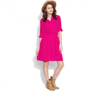 INDICOT Pink ALine Dress for Womens Western Wear Top Dresses