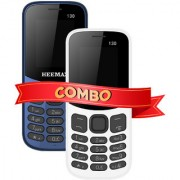HEEMAX P130 COMBO (Dual Sim 1.8 Inch Display 1000 Mah Battery 1 YEAR WARRANTY Made In India )DARKBLUE AND WHITE
