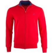 Gant Vest Classic Cotton Zip Cardigan Rood / male
