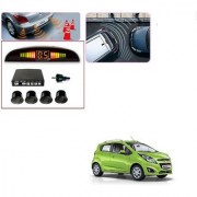 Auto Addict Car Black Reverse Parking Sensor With LED Display For Chevrolet Beat