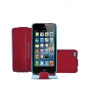 Piquadro Custodia iPhone 5 ® e 5S ® guscio patta in pelle Rosso AC3054B2/R