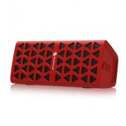 Wireless Bluetooth Speaker HiFi 3D Stereo Portable Sound Box Mic Hands Free AUX TF Supported - Red