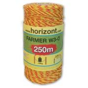 FARMER W3- 2,5 mm, żółto-pomarańczowa, 250m