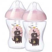 Комплект шишета за хранене Ultra - розови, 260 мл. Tommee Tippee, 2600029