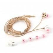 ER M430 De Metal De 3,5 Mm Del Auricular In-ear Auriculares Auriculares Hifi Super Bass Con Mic -Golden