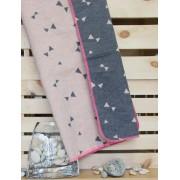 "David Fussenegger - Одеяло Juwel 70x90 ""Триъгълници"" - розово"