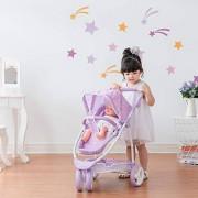 Olivia's Little World Twinkle Stars Princess 2-in-1 Baby Doll Stroller Purple, Doll Pram