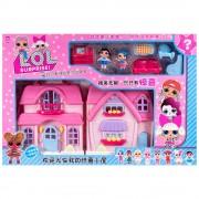 Комплект къща за кукли с обзавеждане и две кукли EmonaMall - Код W1573