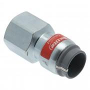 "VSH Tectite push overgang verzinkt (push x binnendraad) 15 mm x 1/2"" 2 stuks"
