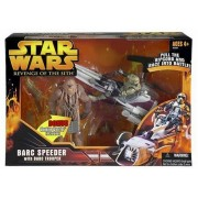 Star Wars Revenge Of The Sith Barc Speeder And Barc Trooper With Ripcord Action