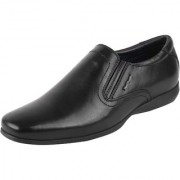 Hush Puppies Men's Premium Leather Black Formal Slip On Shoes