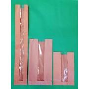 100 + 50 x 610 mm-es ablakos éltalpas papírzacskó (bagettes)