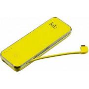Baterie externa Kit PWR4500YL, 4500 mAh, 1 USB, Universal (Galben)