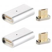 Callstel Magnetischer Micro-USB-Adapter für Lade- & Datenkabel, silber, 2er-Set