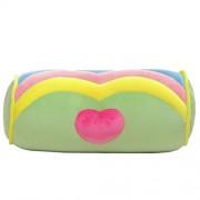CN'Dragon Creative Marshmallow Pillow Cute Back Cushion Stuffed Toy Birthday Gift Candy Throw Pillows Plush Toys (Green)