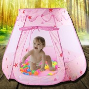 AST Works Portable Play Tent Kids Girl Princess Castle Outdoor Ocean Ball Play House Funny