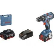 Mașină de găurit&înșurubat cu acumulator Bosch Professional GSR18V-28 18V max. 63Nm, 2 acumulatori, incl. set biți