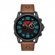 Diesel - Smartwatch touchscreen On Full Guard 2.5 Gen 4 con cinturino in pelle marrone - DZT2009