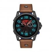 Diesel - Smartwatch touchscreen On Full Guard 2.5 Gen 4 con cinturino in pelle marrone - DZT2009