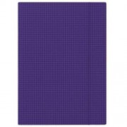 Gumis mappa, karton, A4, kockás, DONAU, kék (DFEP101)