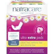 Absorbante Ultra Extra de noapte (5 picaturi) 8 buc Natracare