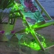 Tuby LED rope light, battery-powered, green