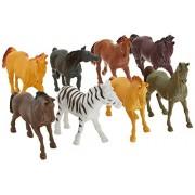 "Plastic Horses Party Favors Colorful 7"" Plastic Horse Figures (8 Pack)"