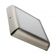 MoonLed - Plafon LED de teto quadrado 22x22x4cm 18W prateado - MoonLed