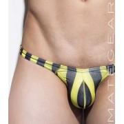 Mategear Kim Bae VI Tapered Sides V Front Maximizer Ultra Bikini Swimwear Yellow/Black Stripes 1260404
