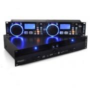 Ibiza Reproductor de CD dual Global DJ scratch MP3 SD USB (Global-DJ)