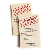 Kameo Toys Top Secret Dissolving Paper Note Pad - Water Soluble and Disappearing for Magic Tricks, Agent Spy Party Game Favors (Small)