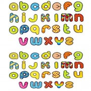 JUMBO Magnetic Letters - Alphabet Fridge Magnets - 2 Sets of 26 Lower Case abc to Learn Words