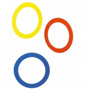 Jongleer/jongleren ringen 3 stuks 24 cm
