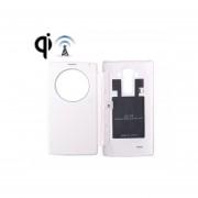 Cargador Inalambrico Receptor Y Cuero Caso Cubrir Reemplazo Con Exhibicion De La Llamada Y Función De NFC Para LG G4 / H815 (blanco)
