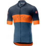 Castelli Prologo VI tricou ciclism bărbați Dark Steel Blue/Orange/Steel Blue S