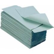 Prosoape Hartie Pliate Eco Verde 1 Strat 180 Foi/Pachet 23x25 cm 25 Pachete/Bax Greutate 386 g Culoare Verde Prosoape Unica Folosinta Pliate