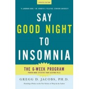 Say Good Night to Insomnia, Paperback