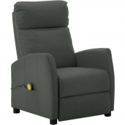 Youthup - Fauteuil de massage inclinable Gris Similicuir