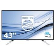 Philips bdm4350uc/00 108 cm (43 inch) monitor (VGA, 2 x HDMI, USB, 2 x DisplayPort, 3840 x 2160, 60 Hz) Zwart