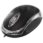 Deals e Unique Optical Mouse 3D USB Black USB Wired Mouse USB Plug and Play 3D Optical wired