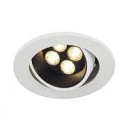 KIT TRITON 4, encastré, rond, blanc mat, 4x3W LED 3000K, 30°