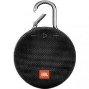 JBL Bluetooth® reproduktor JBL Clip 3 hlasitý odposlech, outdoor, odolná vůči stříkající vodě, černá