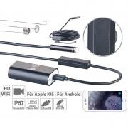 Somikon WiFi-HD-Endoskop-Kamera für iOS- und Android-Mobilgeräte, 5 m