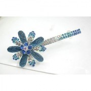 Beautiful Jewelry Blue Flowers Crystal Hair Clips - for hair clip Beauty Tools